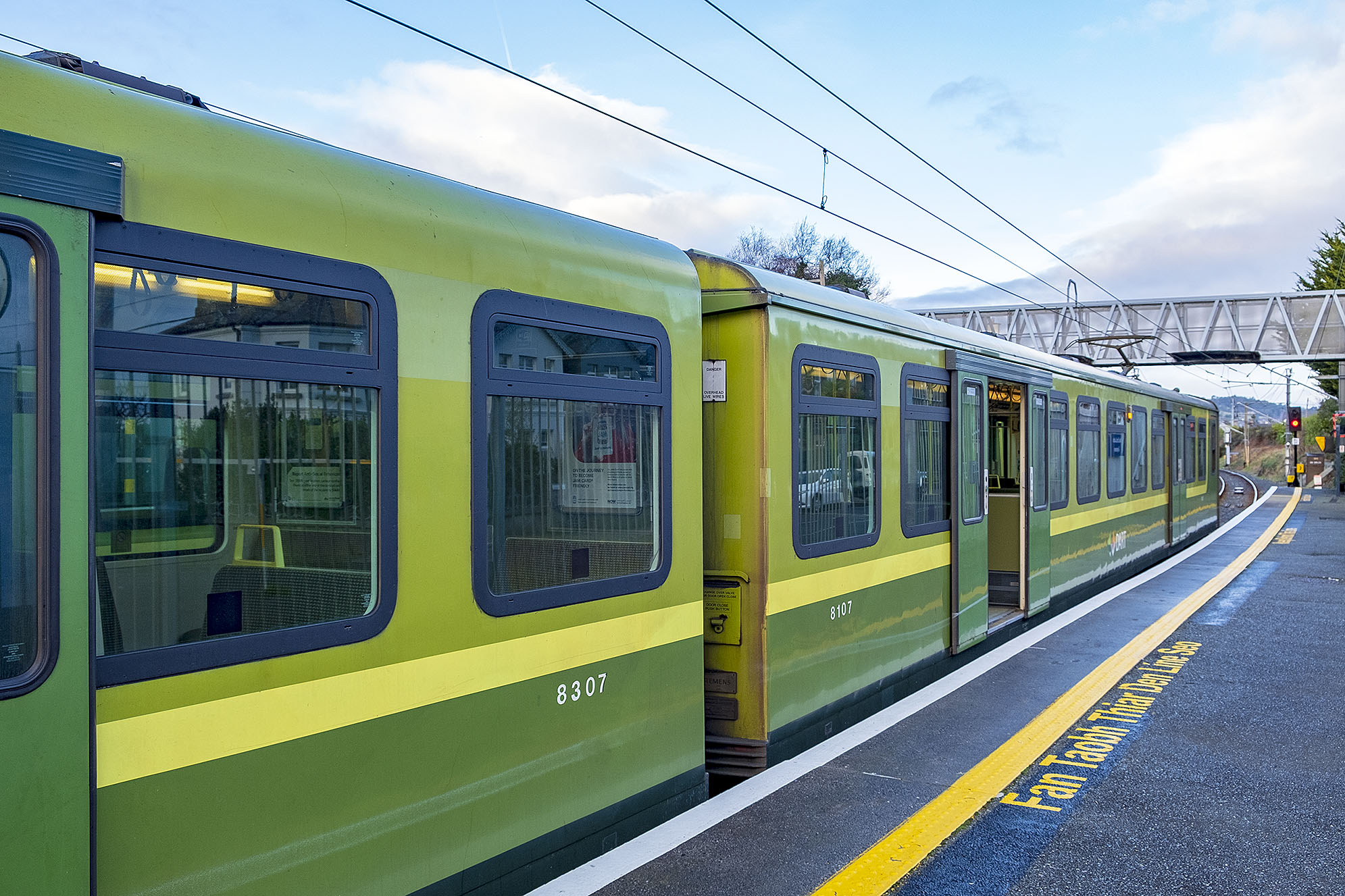 Dart train Dublin Greystones