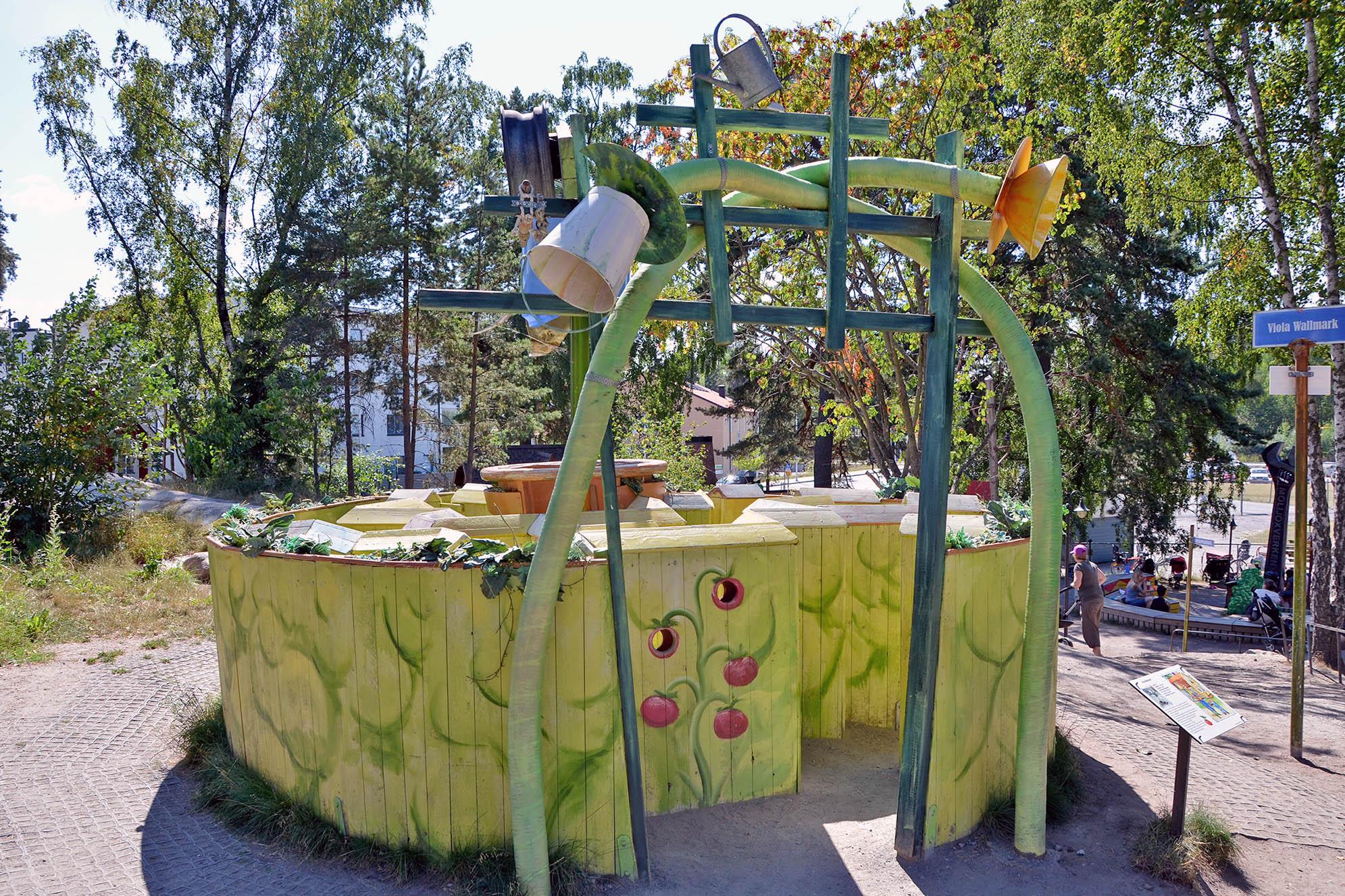Mulle Meck-parken Järvastaden Stockholms bästa lekplatser