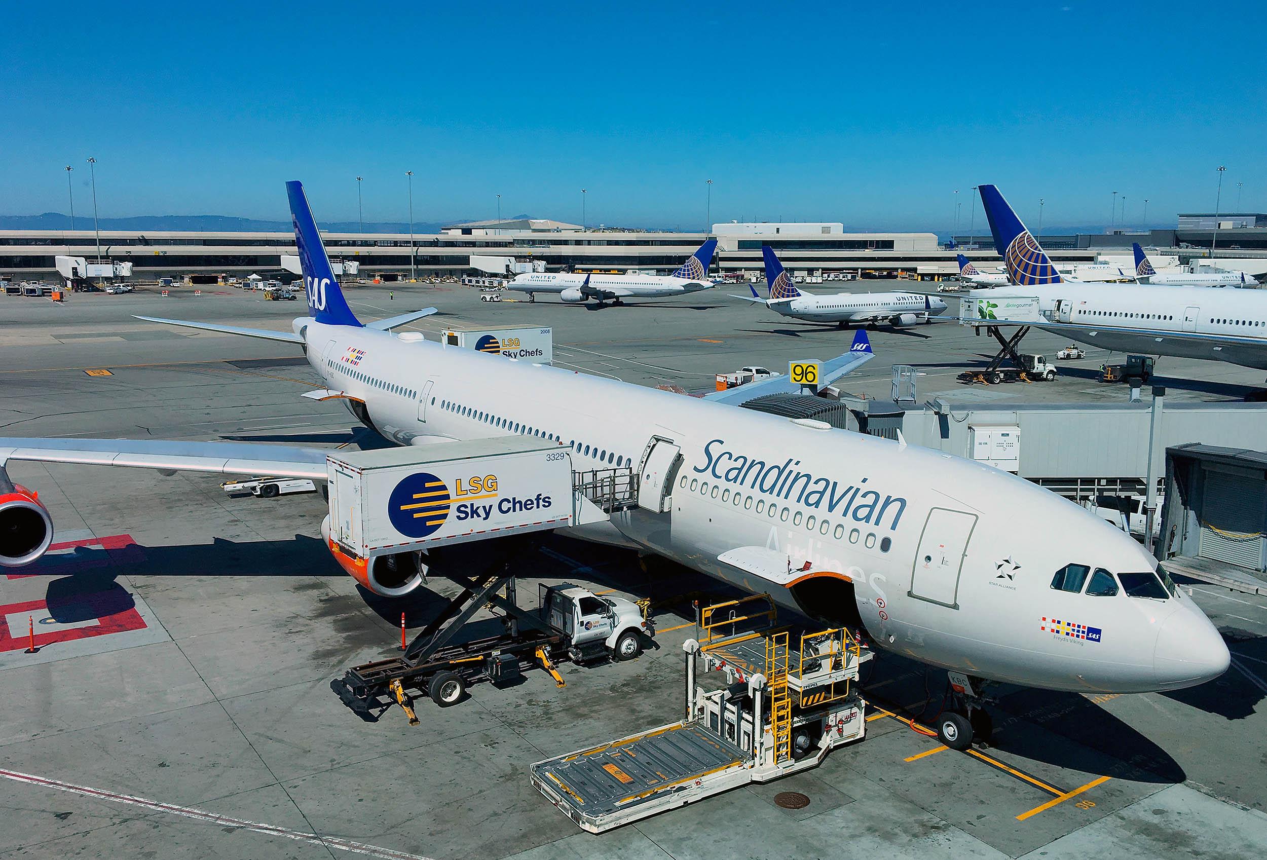 SAS flygplan San Francisco