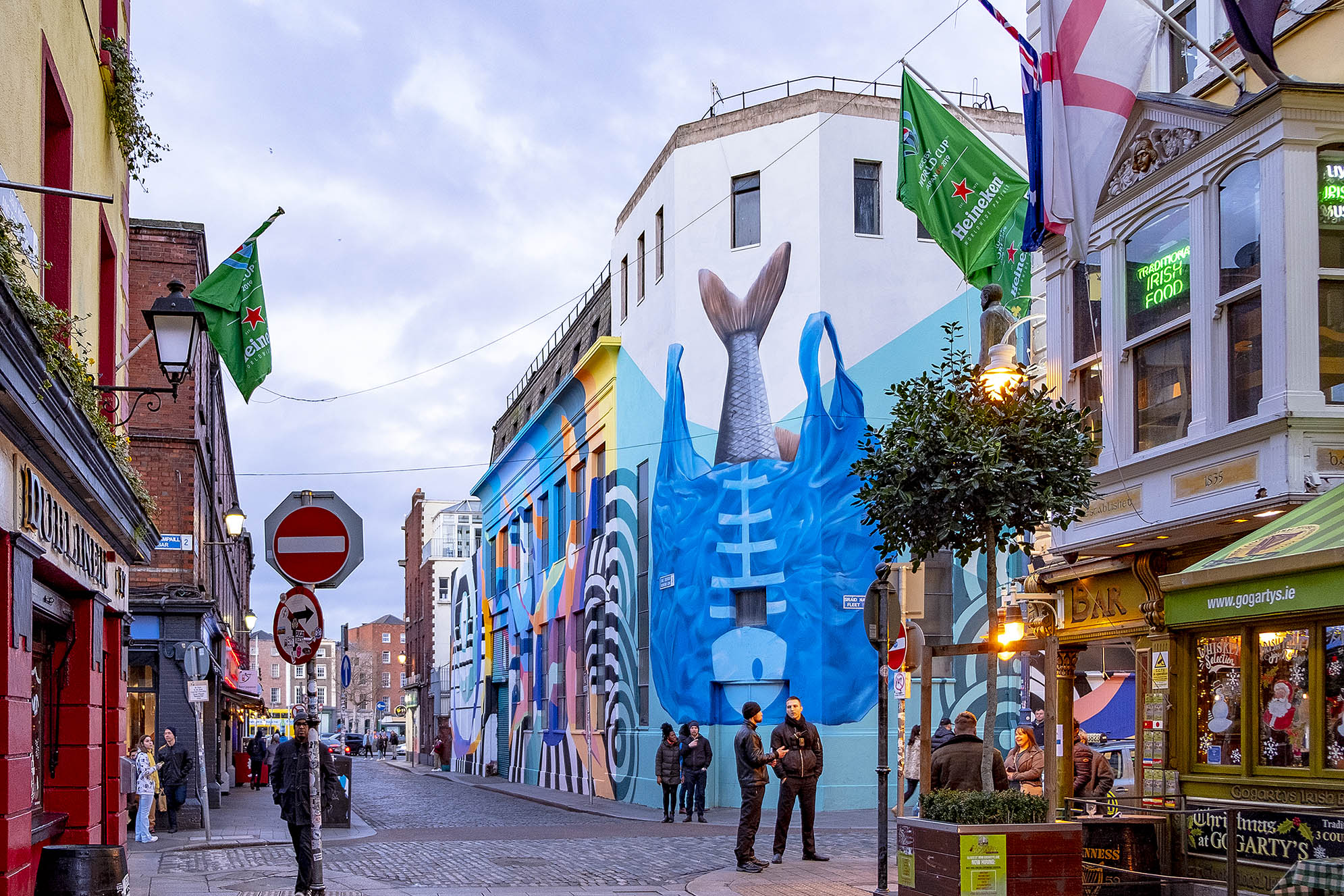 Street art Dublin Irland Temple Bar