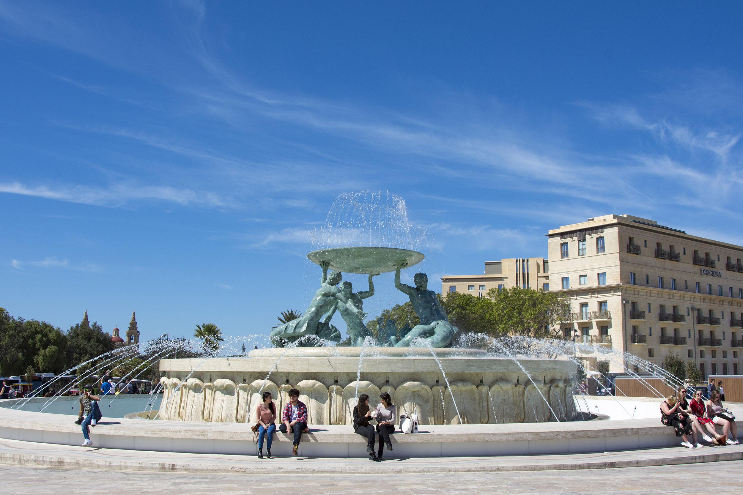 Tritonfontänen Valletta Malta