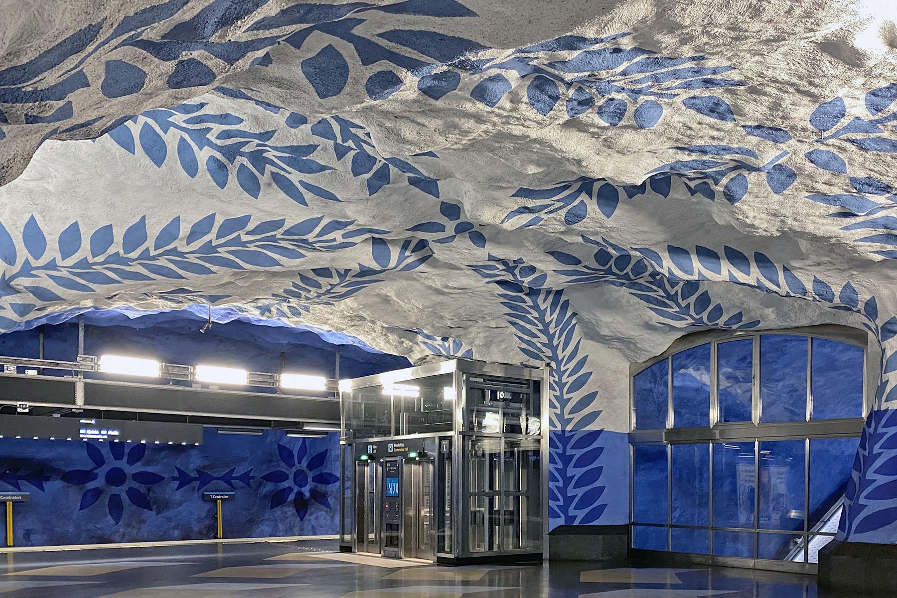 T-centralen tunnelbana Stockholm konstutställning