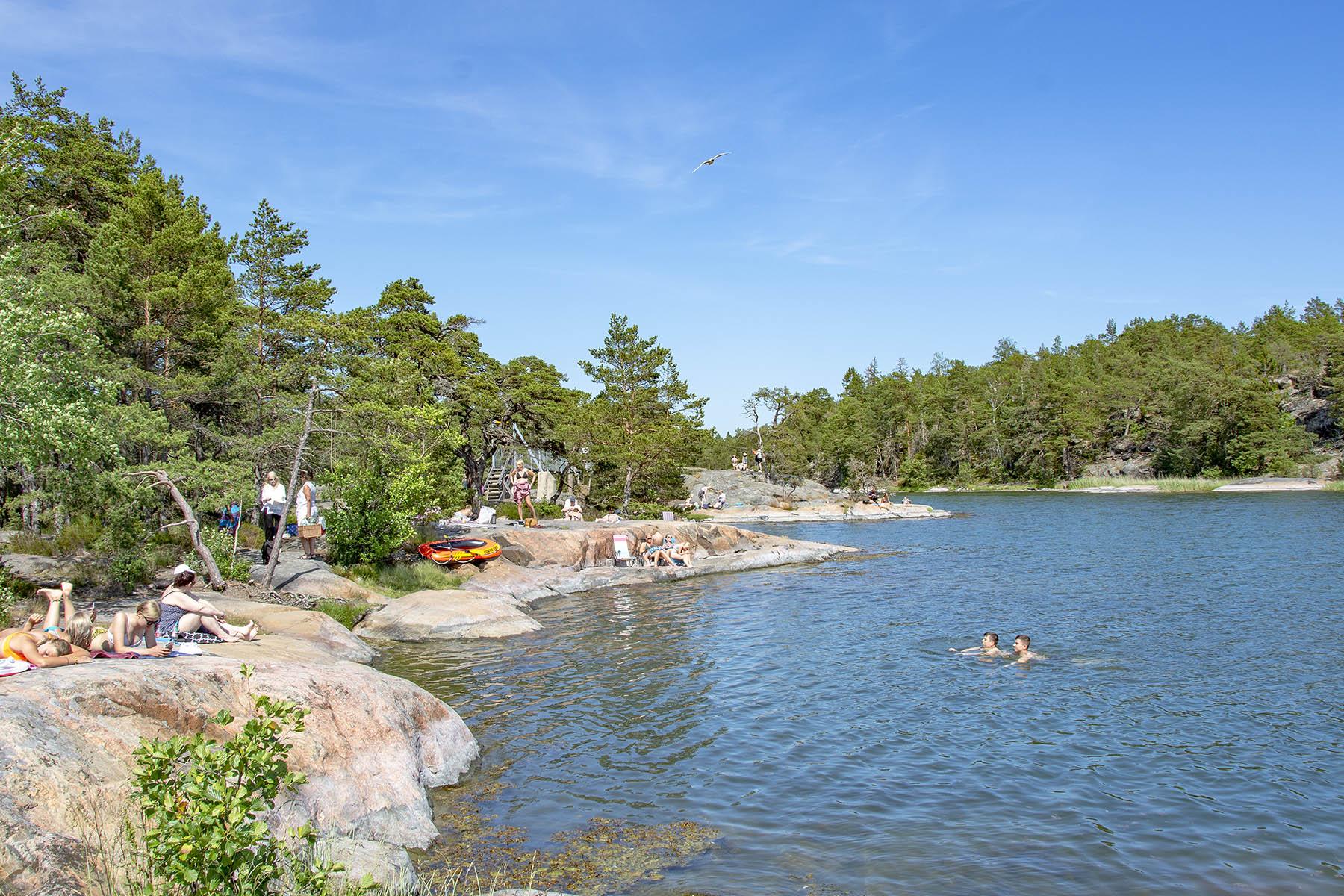 Badklippor Aspskär Stendörrens naturreservat