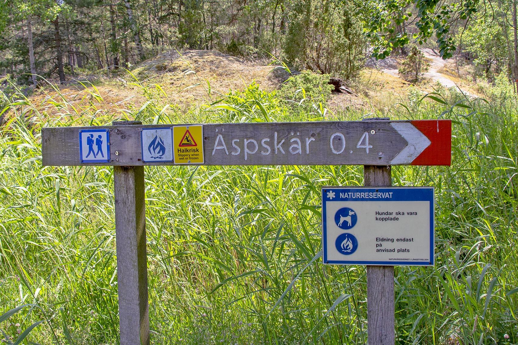 Skylt till Äspskär