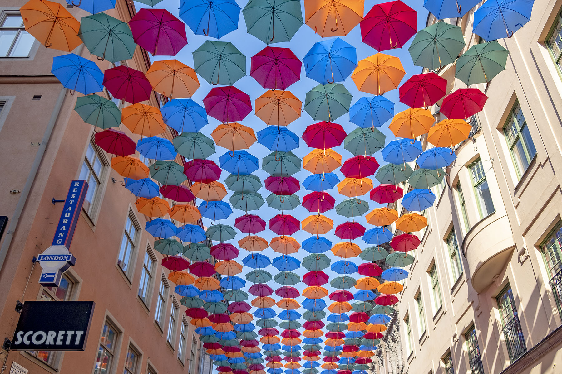 Umbrella Sky Project Stockholm