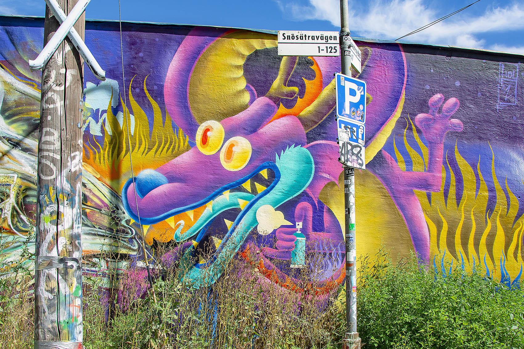 Snösätra gatukonst graffiti Street art Snösätravägen