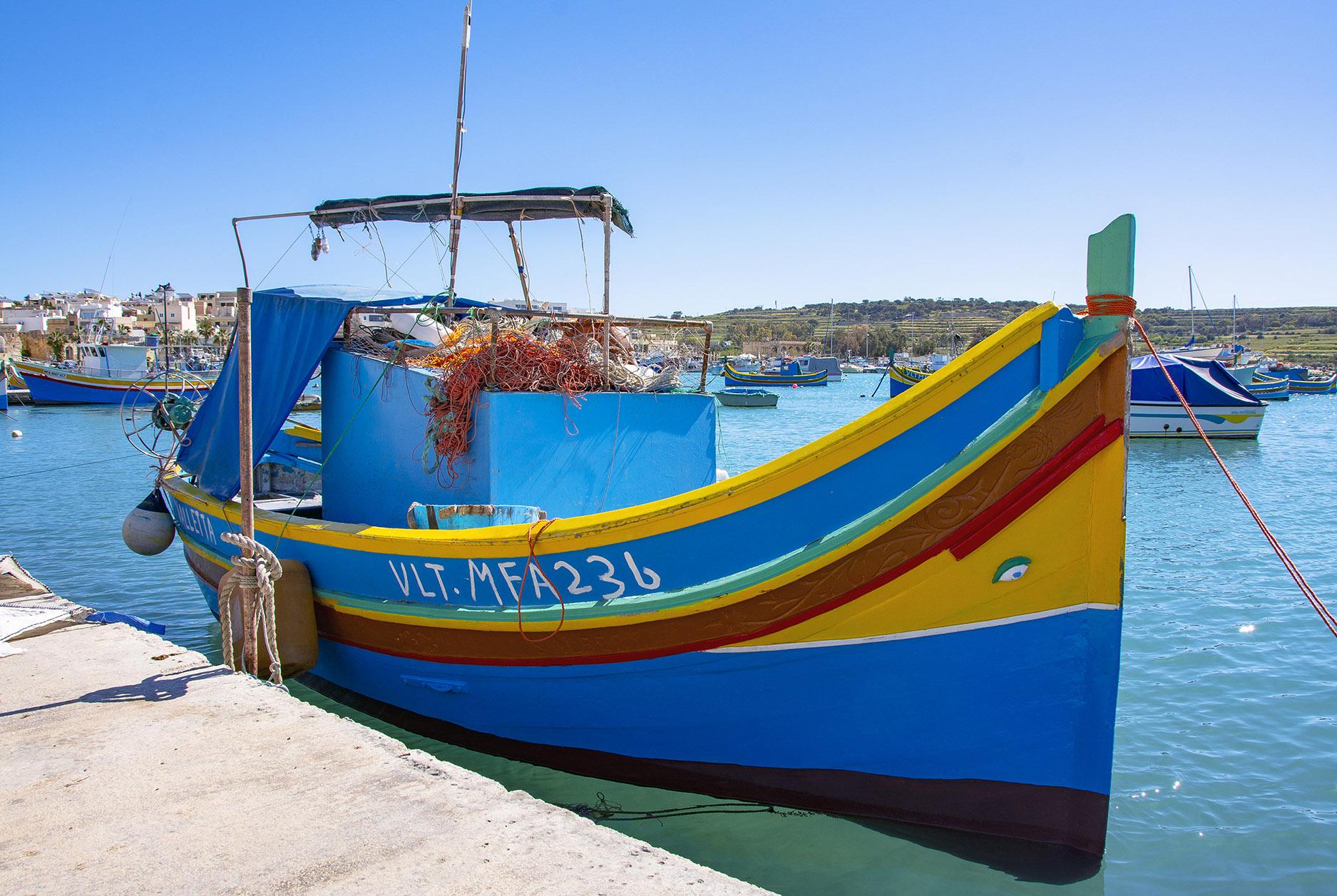 Luzzu Marsaxlokk Malta