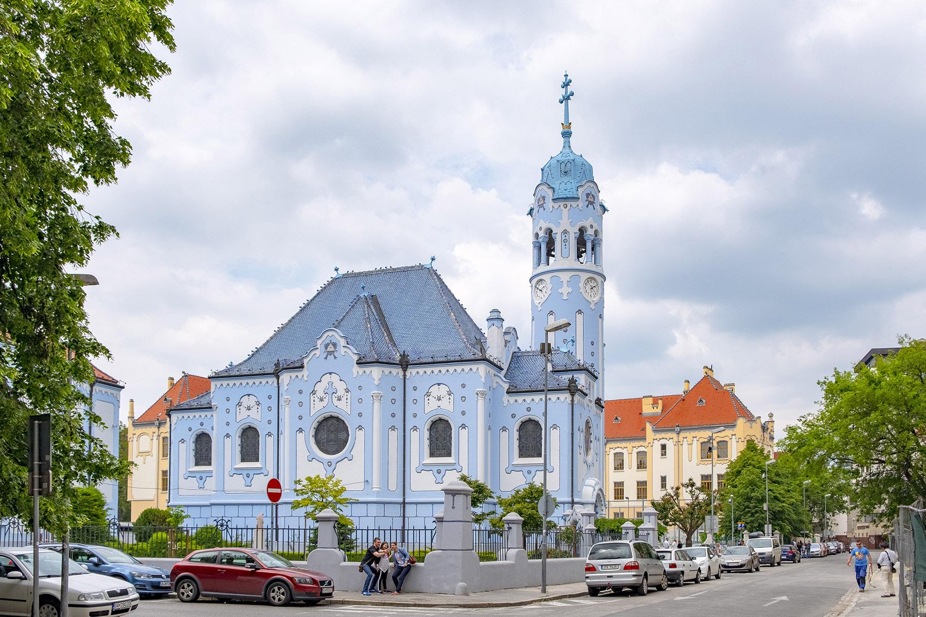 Blå kyrka Church of St. Elizabeth Bratislava.