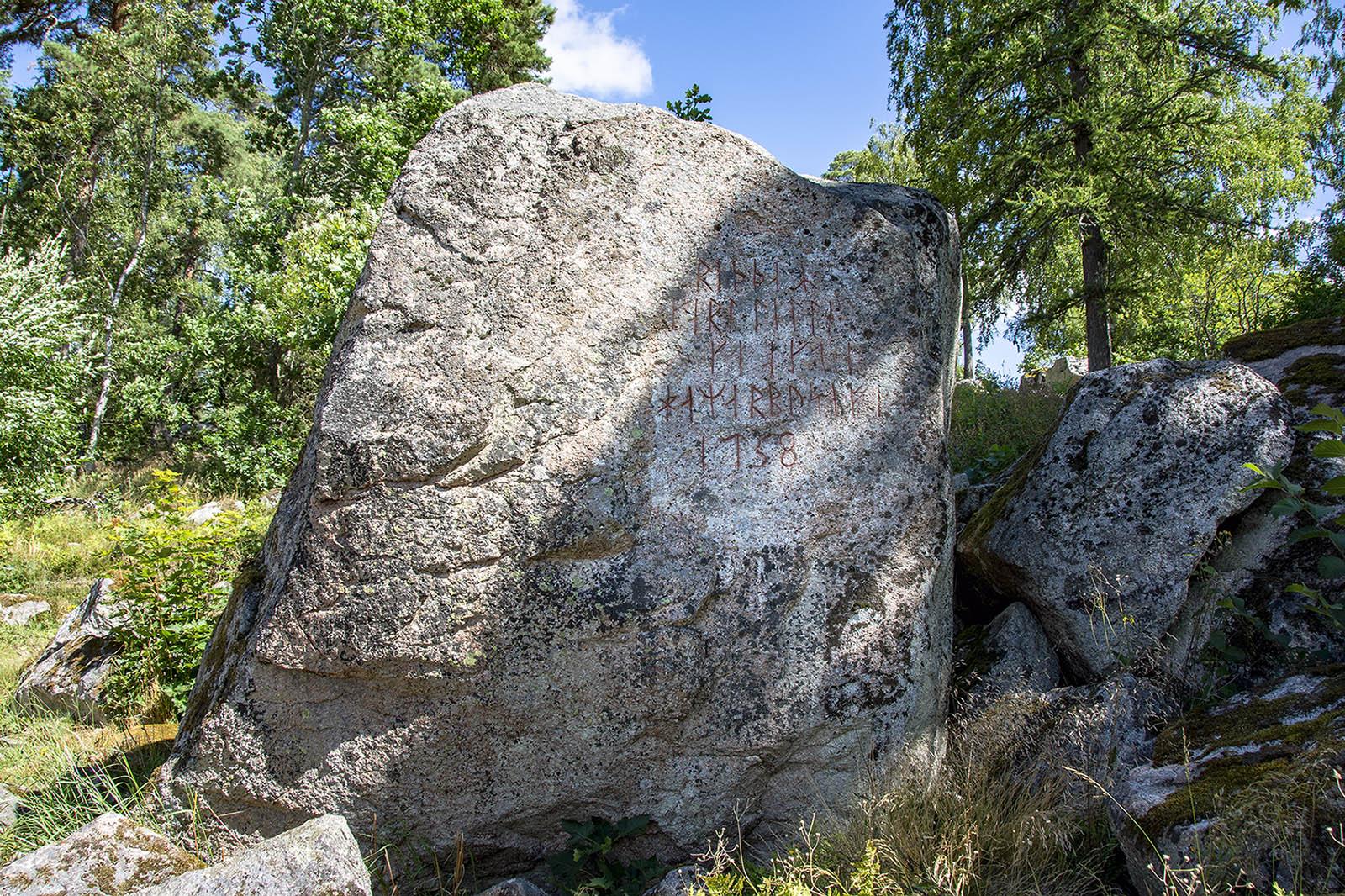 Linnés runsten på Hammarby