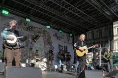 Paul Daly Band mit Johnny Logan (Mitte), After Parade Party St. Patricks Day am Wittelsbacher Platz in München 2019