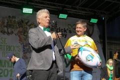 Dieter Reiter (li.) und Michael Weber (re.), After Parade Party St. Patricks Day am Wittelsbacher Platz in München 2019