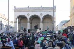 After Parade Party St. Patricks Day am Odeonsplatz in München 2019