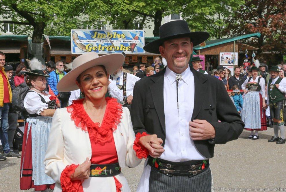 Chilenische Trachtengruppe Pülche, Auer Dult am Mariahilfplatz in München 2019