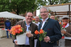 Clemens Baumgärtner und Allexander Reissl (re.), Auer Dult am Mariahilfplatz in München 2019