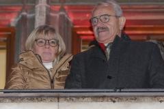 Gabriele Neff und Otto Seidl, Christkindlmarkt am Marienplatz in München 2018
