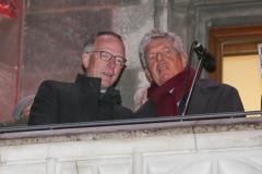 Martin Wohlketzettter und Dieter Reiter (re.), Christkindlmarkt am Marienplatz in München 2018