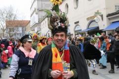 Faschingszug der Damischen Ritter durch die Fußgängerzone in München 2019