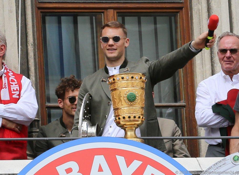 Manuel Neuer Double Feier 2019 Rathausbalkon Marienplatz München