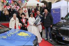 Sophie I., Marlon I., Désireé I., Moritz II., Christian Hochapfel (von li. nach re.), Inthronisation der Narrhalla Prinzenpaare am Marienplatz in München 2020