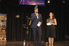Peter Mergel und Tanja Wissel,  Inthronisation der Würmesia Prinzenpaare in der Mehrzweckhalle in Neuried  2020