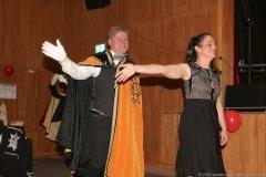 Harald Zipfel und Tanja Wissel, Inthronisation der Würmesia Prinzenpaare in der Mehrzweckhalle in Neuried  2020