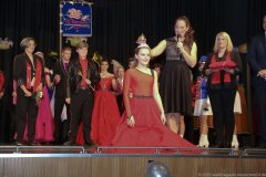 Celina II. und Tanja Wissel, Inthronisation der Würmesia Prinzenpaare in der Mehrzweckhalle in Neuried  2020