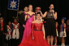 Nina I und Tanja Wissel (re.), Inthronisation der Würmesia Prinzenpaare in der Mehrzweckhalle in Neuried  2020