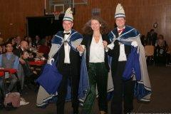 Uta Wüst (Mitte), Inthronisation der Würmesia Prinzenpaare in der Mehrzweckhalle in Neuried  2020
