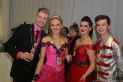 Prinzenpaar 2019  Bianca II und Florian II., Prinzenpar Nina I. und Lukas I. (von li. nach re.)Inthronisation der Würmesia Prinzenpaare in der Mehrzweckhalle in Neuried  2020