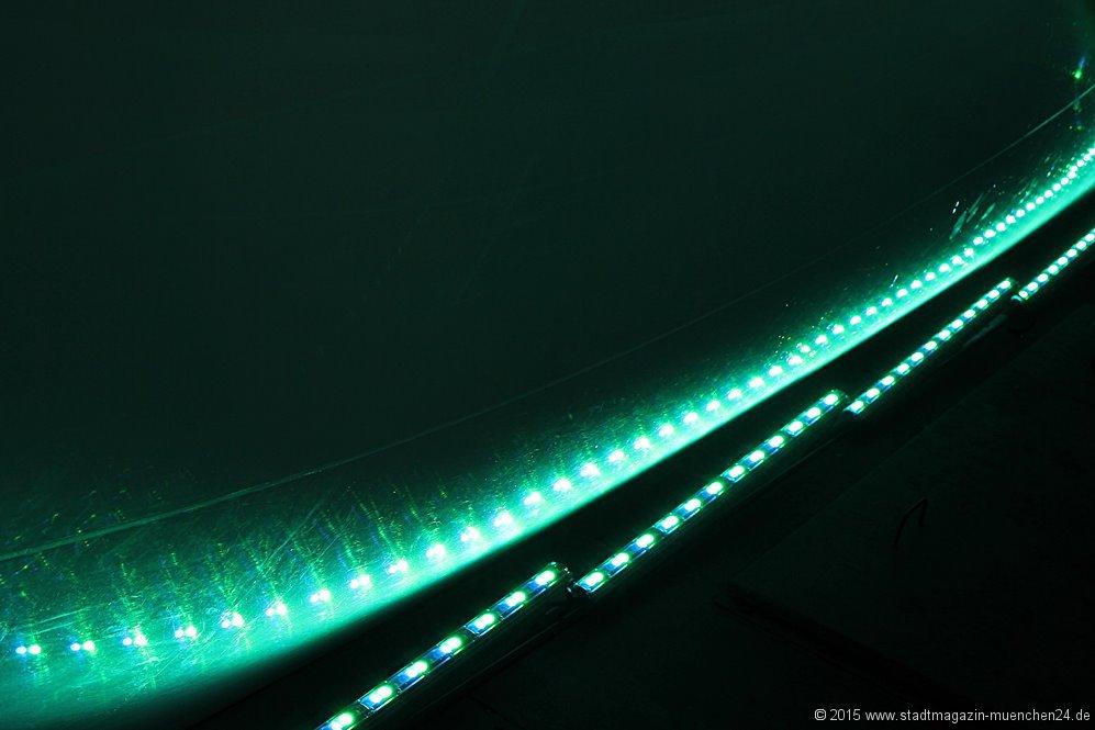Pressekonferenz LED--Beleuchtung Allianz Arena
