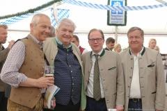 Dr. Michael Möller,  Edmund Radlinger, Manuel Pretzl, Norbert Lange (von li. nach re.), Presserundgang Frühlingsfest auf der Theresienwiese in München 2019