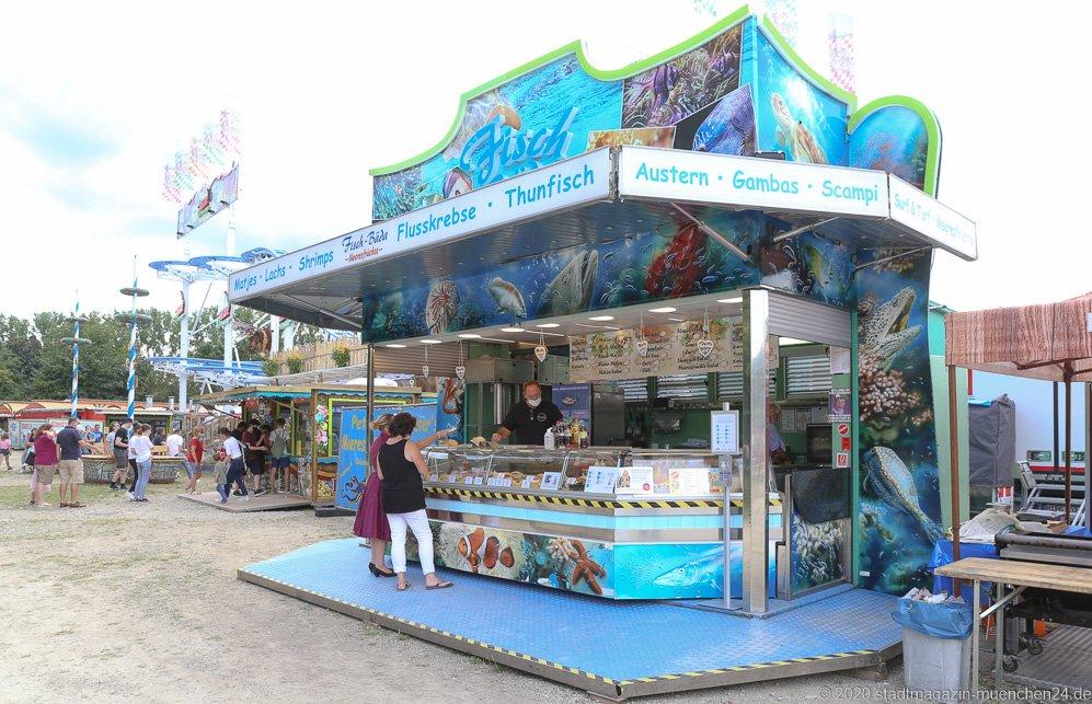 Fisch-Bäda, Sommer in der Stadt auf dem Tollwoodgelände im Olympiapark in München 2020
