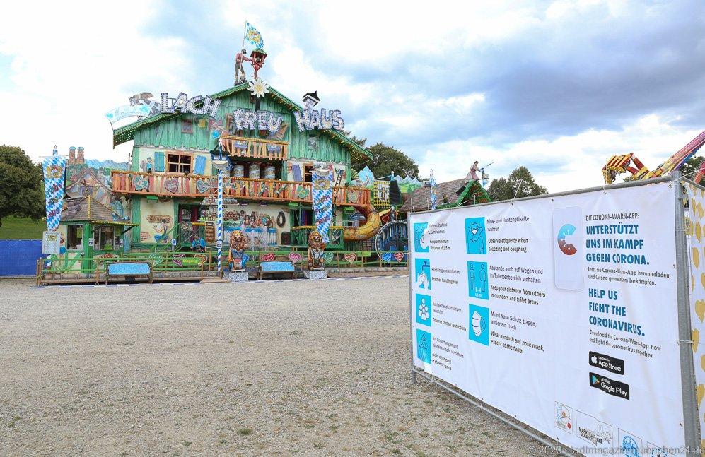 Lach-Freu-Haus, Sommer in der Stadt auf dem Tollwoodgelände im Olympiapark in München 2020