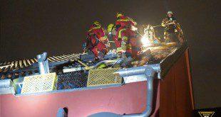 Dachstuhlbrand in Obermenzing