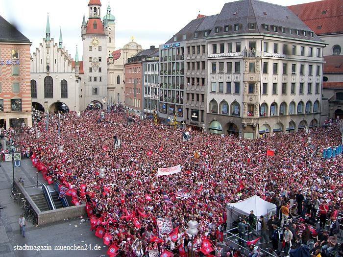 FC Bayern Meisterfeier Marienplatz München