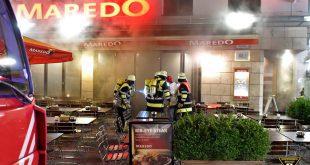 Küchenbrand bei Maredo am Dom München