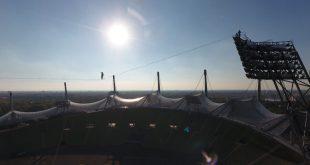 Slackline Highline Vorführung Outdoorsportfestival Olympiapark München Copyright RBS/Sportamt München