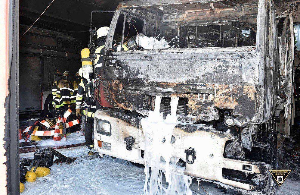 Brand Feuerwache Freimann Quelle Foto Berufsfeuerwehr München
