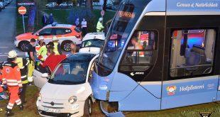 Verkehrsunfall mit Trambahn in Laim Quelle Foto Feuerwehr München