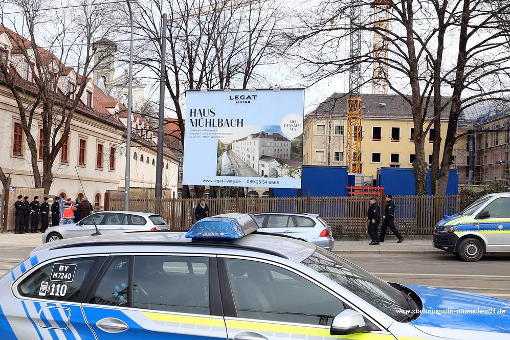 2 Tote nach Schießerei auf Baustelle des ehemaligen Frauengefängnisses Am Neudeck in München-Au