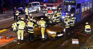 Trambahn Unfall in der Agnes-Bernauer-Straße in München Quelle Foto Feuerwehr München