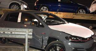 Diebstahlversuch eines fsbrikneuen Golf GTI von Autozug in München Milbertshofen Quelle Foto Bundespolizei