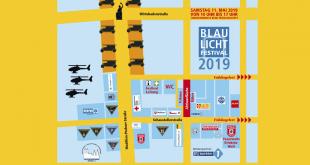 Lageplan Blaulicht-Festival Theresienwiese München