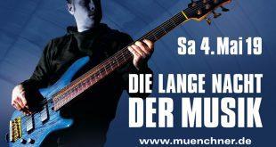 Plakatmotiv Lange Nacht der Musik München 2019