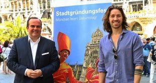 Stadtgründungsfest München Wirtschaftsreferent Clemens Baumgärtner und Gil Ofarim