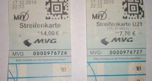 MVV- Tarifreform -Verwechlungsgefahr bei Streifenkarten