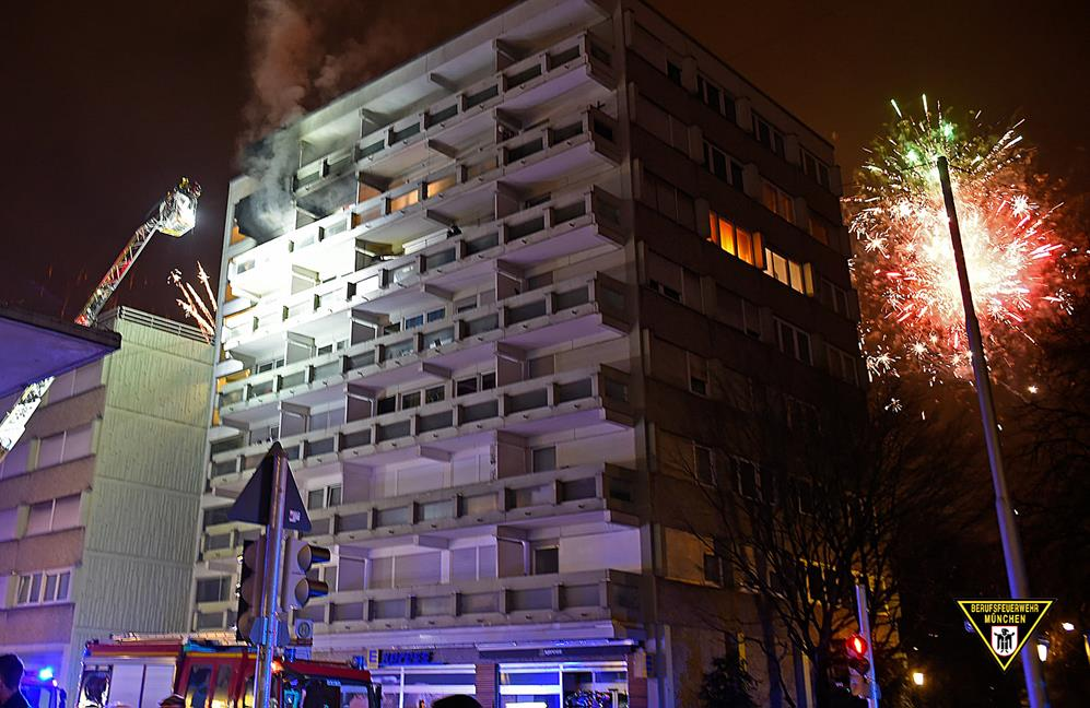 Einsatz Feuerwehr Silvester München