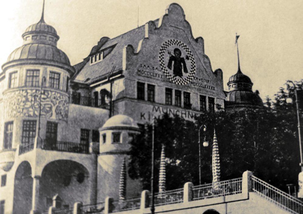 Historische Postkarte Münchner Kindlbräukeller in der Rosenheimer Straße