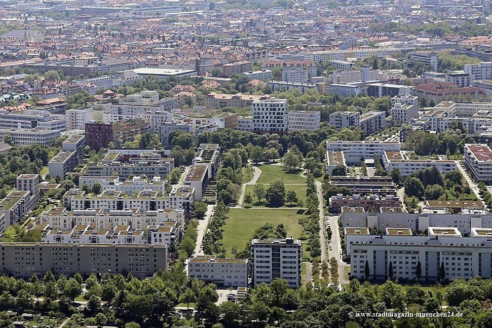 Wohngebiet Ackermannbogen Schwabing-West München