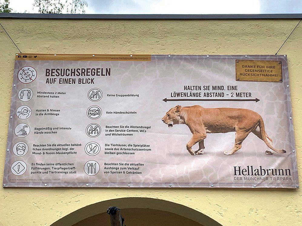Corona Besuchsregeln Tierpark Hellabrunn auf einen Blick